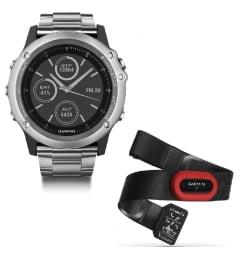 Garmin Fenix 3 HR Silver с металлическим браслетом (010-01338-79) с GPS