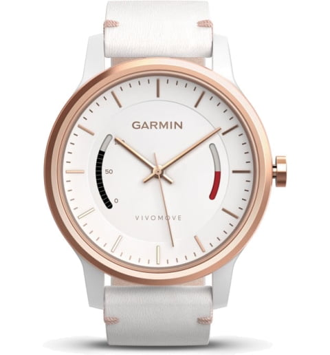 Garmin Vivomove Classic розово-золотистые c кожаным ремешком (010-01597-11)