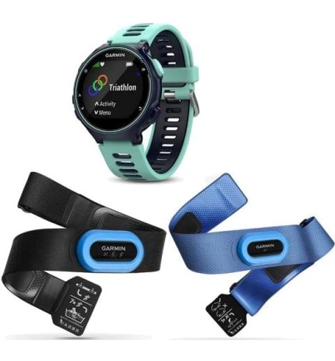 Garmin Forerunner 735XT синие с бирюзовым HRM-Tri-Swim (010-01614-10)