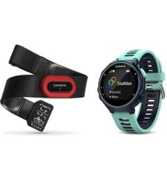 Мужские Garmin Forerunner 735XT синие с бирюзовым HRM-Run (010-01614-16) с GPS